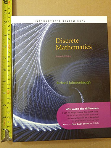 Exam Copy for Discrete Mathematics: Johnsonbaugh, Richard