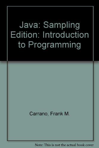 9780136018216: Java: Introduction to Problem Solving and Programming (5th Sampling Edition)