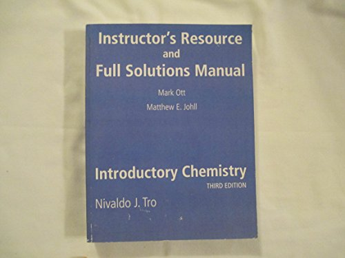9780136018599: Instructor's Resource and Full Solutions Manual (Introductory Chemistry)