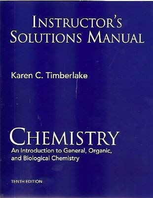 9780136019978: Instructor's Solutions Manual Chemistry An Introduction to General, Organic, and Biological Chemistry