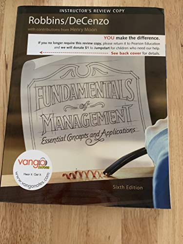 9780136021094: Fundamentals of Management: Essential concepts and Applications (Instructor's Review Copy) Edition: Sixth
