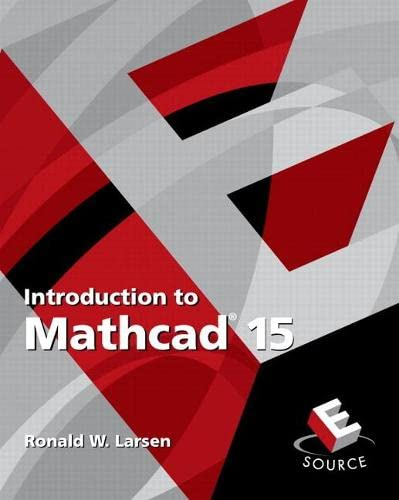9780136025139: Introduction to Mathcad 15