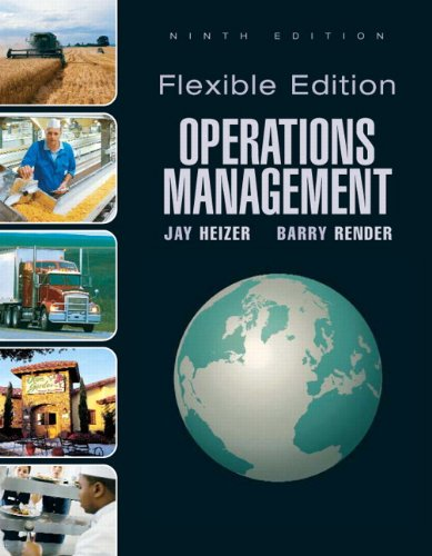 9780136025672: Operations Management, Flexible Version (9th Edition)