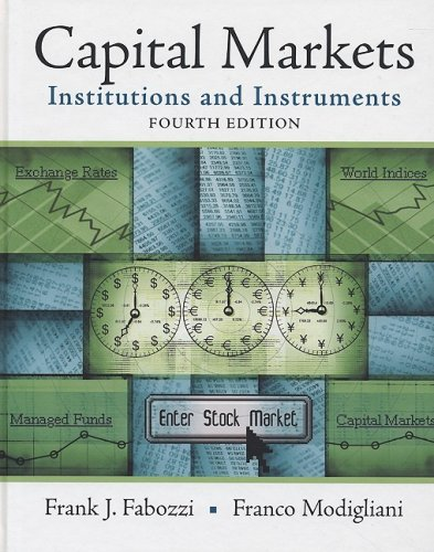 9780136026020: Capital Markets: Institutions and Instruments