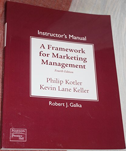 9780136026624: Instructor's Manual To A Framework for Marketing Management: Integrated PharmaSim (4e fourth) (Paperback)