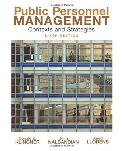 9780136026884: Public Personnel Management
