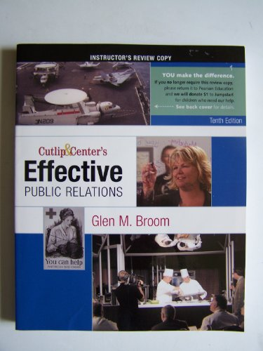 9780136029403: Cutlip & Center's Effective Public Relations Tenth Edition