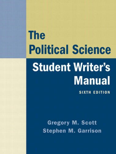 9780136029458: The Political Science: Student Writer's Manual