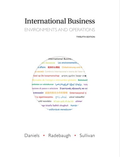 International Business : Environments and Operations: Lee Radebaugh; Daniel