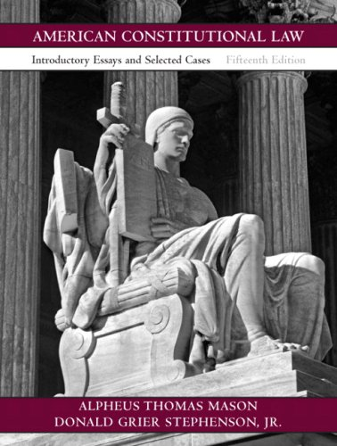 9780136029915: American Constitutional Law: Introductory Essays and Selected Cases