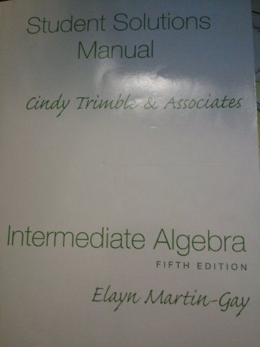 9780136030539: Intermediate Algebra: Student Solutions Manual - Component