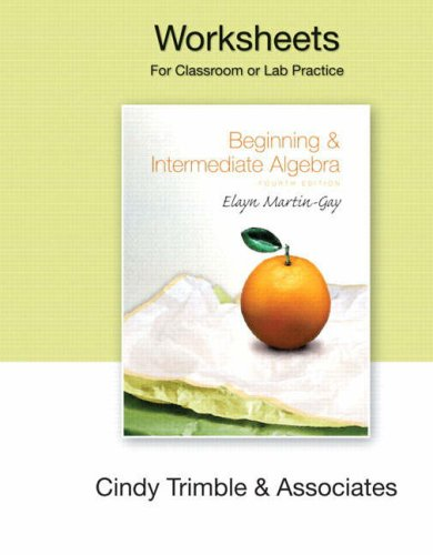 9780136030881: Beginning and Intermediate Algebra: Worsheets (component)