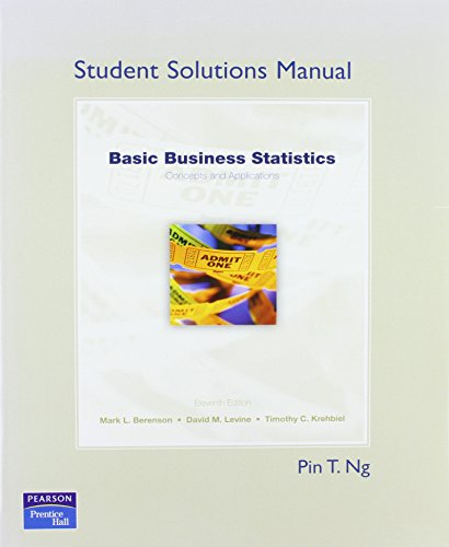 9780136034353: Student Solutions Manaul for Basic Business Statistics: Concepts and Applications: Student Solutions Manual