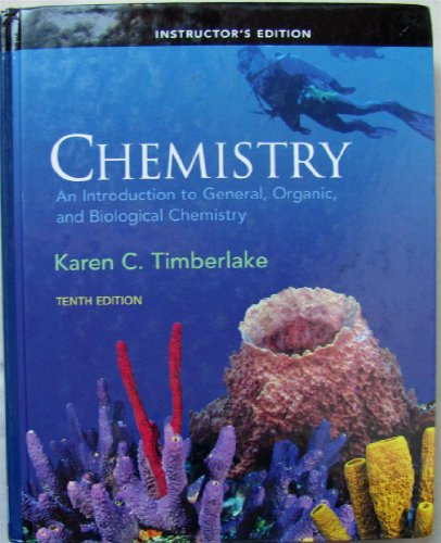 9780136035220: Instructor's Edition Chemistry : An Introduction to General, Organic, and Biological Chemistry (10th Edition)