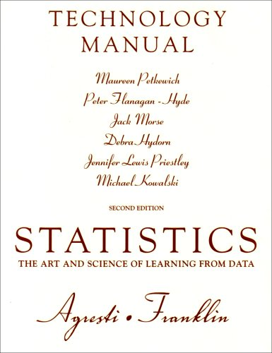 9780136036159: Technology Manual for Statistics: Technology Manual: The Art and Science of Learning from Data