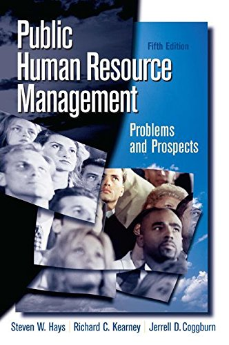 9780136037699: Public Human Resource Management: Problems and Prospects