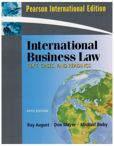 9780136037750: International Business Law: Text, Cases, and Readings