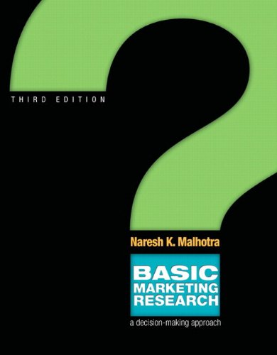 Malhotra, basic marketing research, 3rd edition.