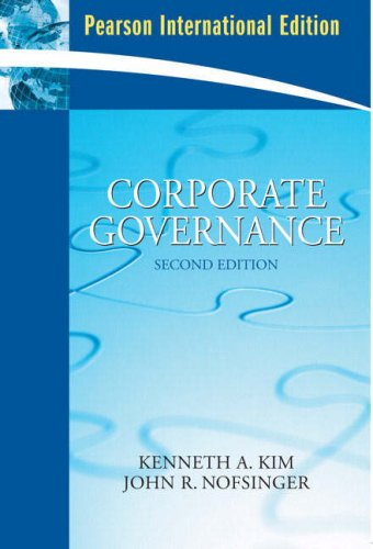 9780136038719: Corporate Governance: International Edition