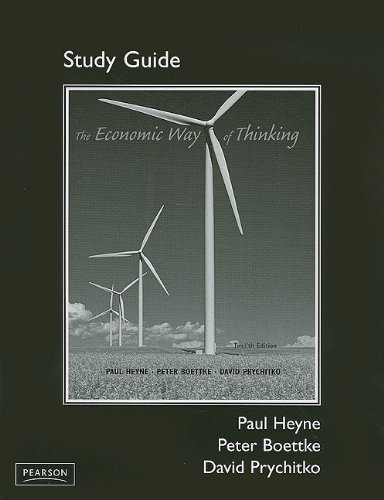9780136039884: Study Guide for The Economic Way of Thinking