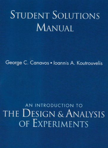 Student Solutions Manual: Canavos, George C.