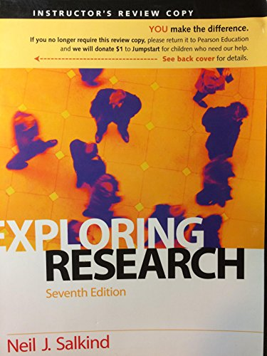 9780136042983: Exploring Research 7th Edition Instructor's Review Copy 2009
