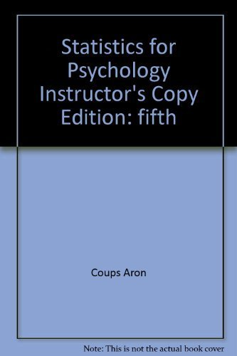 9780136043003: Statistics for Psychology, 5th Edition, Instructor's Copy