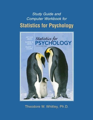 9780136043256: Study Guide and Computer Workbook for Statistics for Psychology