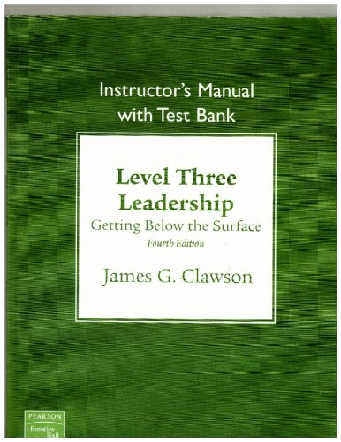 Instructor's Manual with Test Bank, Level Three: Clawson, James G.