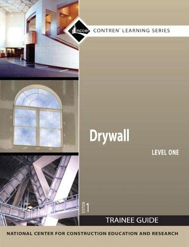 9780136045120: Drywall Level 1 Trainee Guide, Paperback (Contren Learning)