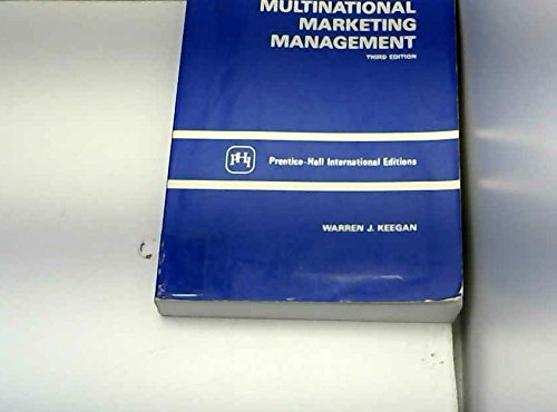 Multinational Marketing Management (0136051480) by Warren J. Keegan