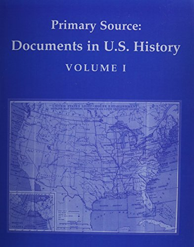 9780136051985: Primary Source: Documents in U.S. History, Volume 1