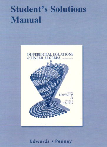 9780136054276: Student Solutions Manual for Differential Equations and Linear Algebra