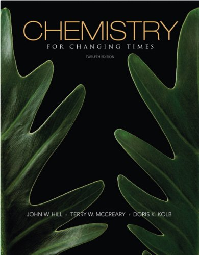 9780136054498: Chemistry for Changing Times (12th Edition)