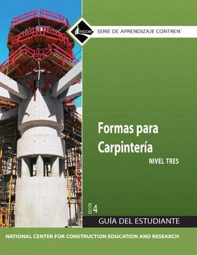 9780136057512: Carpentry Forms 3 Trainee Guide in Spanish (4th Edition)