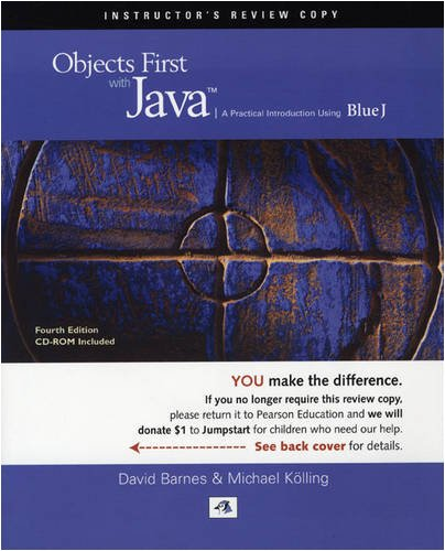 9780136060550: Objects First with Java: Jumpstart Edition: A Practical Introduction Using BlueJ
