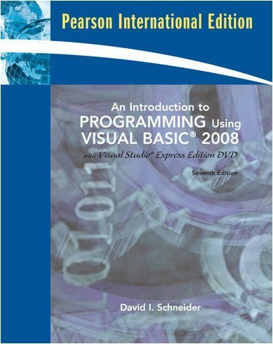 9780136060765: An Introduction to Programming using visual basic 2008
