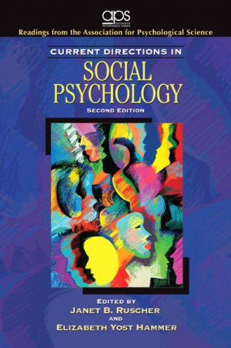 9780136062806: Current Directions in Social Psychology (2nd Edition)