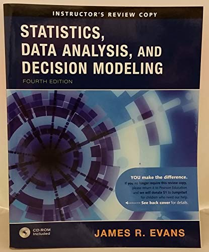 9780136066316: Statistics, Data Analysis, and Decision Modeling (Instructor's Review Copy - Statistics Data Analysis, and Decision Modeling)
