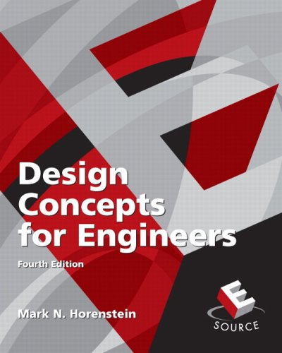 9780136069553: Design Concepts for Engineers (4th Edition)
