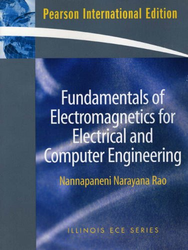 9780136069607: Fundamentals of Electromagnetics for Electrical and Computer Engineering: International Edition