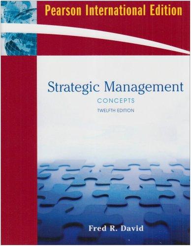 9780136069676: Strategic Management: Concepts