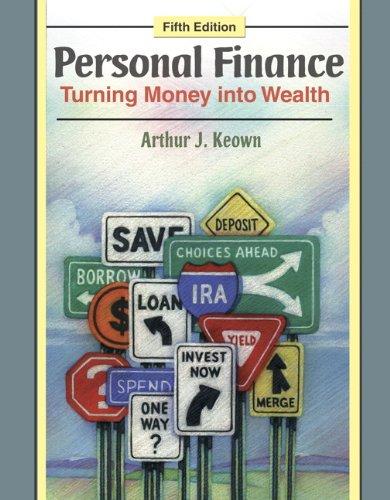 Student Workbook for Personal Finance: Turning Money: Arthur J. Keown