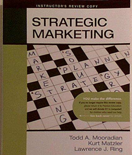 9780136072218: Strategic Marketing (Instructor's Review Copy)