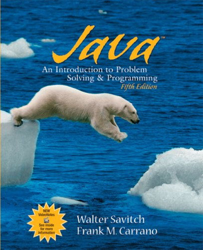 9780136072256: Java: Introduction to Problem Solving and Programming (5th Edition)