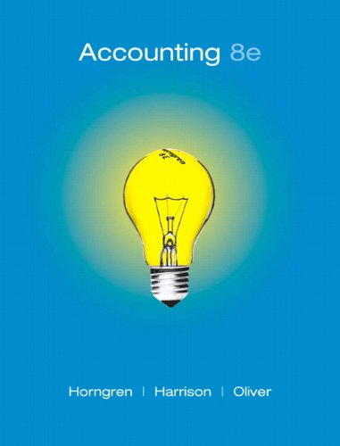 9780136072973: Accounting, Chapters 1-23, Complete Book (8th Edition)