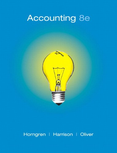 9780136072980: Accounting, 8th Edition