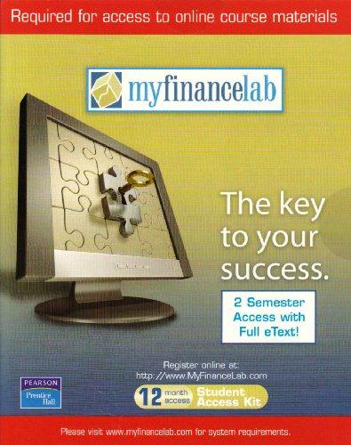 9780136073741: MyFinanceLab [12-month Student Access Code Card]