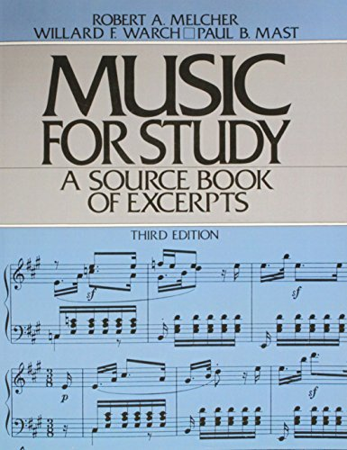 9780136074748: Music for Study (3rd Edition)