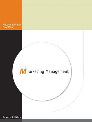 Marketing Management (4th Edition): Dhar, Ravi, Winer,